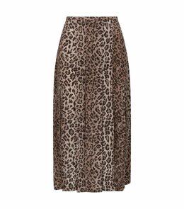 Georgia Silk Pleated Skirt