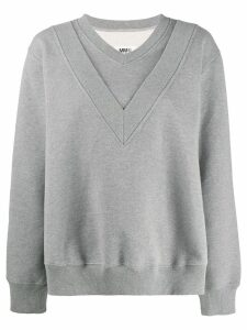 Mm6 Maison Margiela panelled overlay sweatshirt - Grey