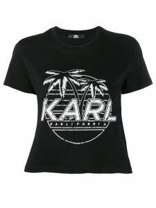 Karl Lagerfeld Karlifornia cropped T-shirt - Black