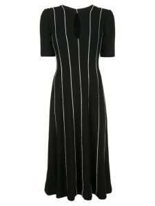 Carolina Herrera striped midi dress - Black
