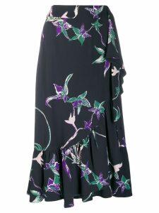 La Doublej Jazzy printed flounce skirt - Black