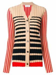 Sonia Rykiel striped knit cardigan - Neutrals