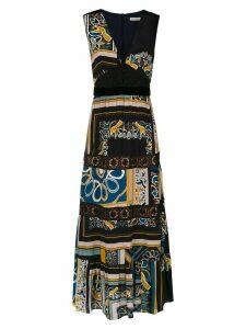 Martha Medeiros long printed dress - Black