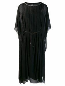 Fabiana Filippi sheer mid-length dress - Black