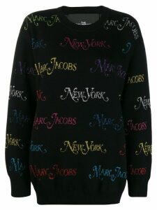 Marc Jacobs embroidered logo jumper - Black
