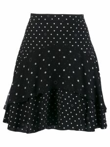 Karl Lagerfeld polka dot frilled skirt - Black