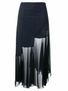 Sonia Rykiel sheer panel skirt - Blue