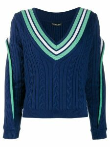 Y/Project cable knit jumper - Blue
