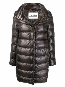Herno concealed fastening padded coat - Brown