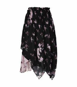 Rose Print Sumin Midi Skirt