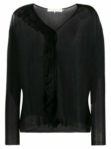 L'Autre Chose semi-sheer knitted top - Black