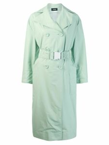 Kwaidan Editions oversized belt trench coat - Green