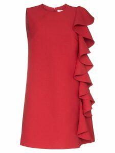 Valentino ruffle-trimmed A-line mini dress - Red
