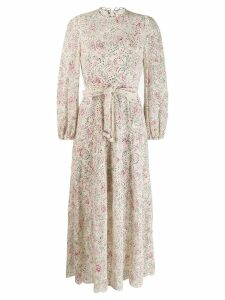 Zimmermann printed broderie anglaise maxi dress - Neutrals