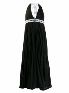 Kappa Kontroll halterneck mesh dress - Black