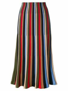 Sonia Rykiel striped tulip skirt - Black