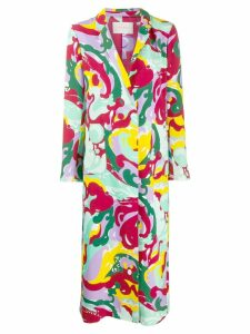 La Doublej printed duster coat - Red