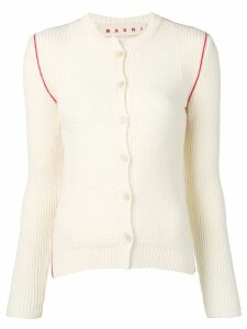 Marni textured knit cardigan - White