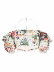 Zimmermann Allia floral off-the-shoulder top - Multicolour