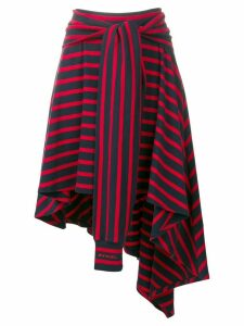 Sonia Rykiel striped asymmetric skirt - Blue