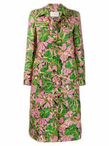 La Doublej x Mantero botanic print coat - Green