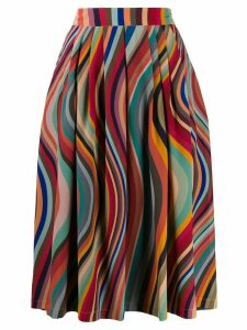 PS Paul Smith pleated wave pattern skirt - Red