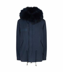 Fur Lined Mini Army Parka