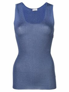 Brunello Cucinelli knitted tank top - Blue
