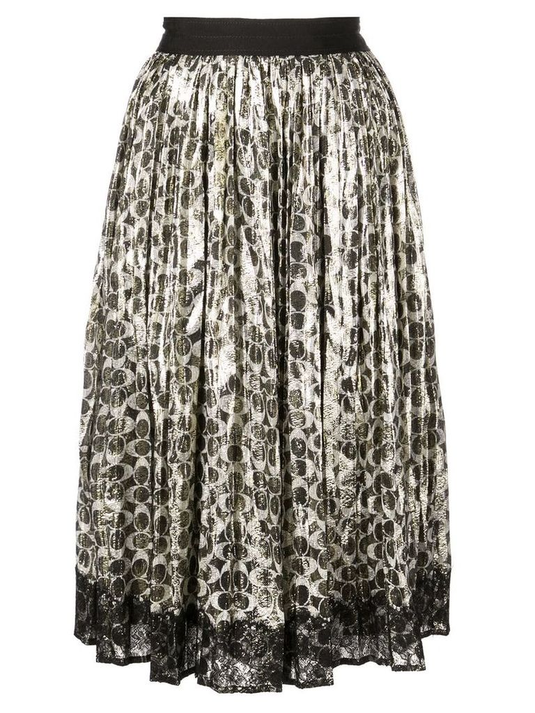 Coach metallic pleated skirt - Black