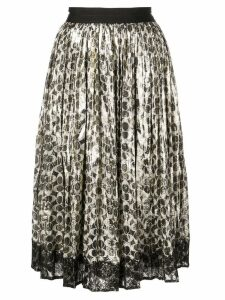 Coach metallic pleated skirt - Black