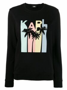 Karl Lagerfeld Karlifornia logo sweatshirt - Black