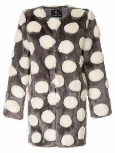 Unreal Fur faux fur Bubbles Coat - Grey