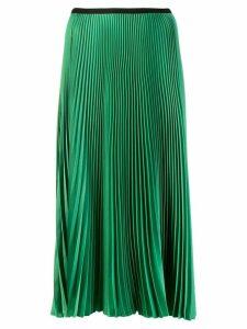 Blanca pleated midi skirt - Green