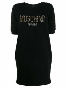 Moschino Moschino Swim studded T-shirt dress - Black