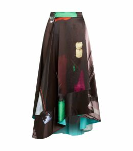 Brea Graphic Print Midi Skirt
