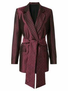 Layeur tie-waist blazer - Red