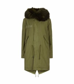 Fox Fur Hooded Long Parka Jacket