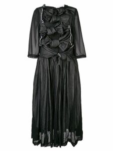 Comme Des Garçons georgette many bows dress - Black