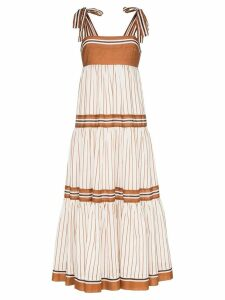 Zimmermann Veneto tiered maxi dress - Brown