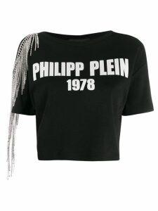 Philipp Plein cold shoulder T-shirt - Black