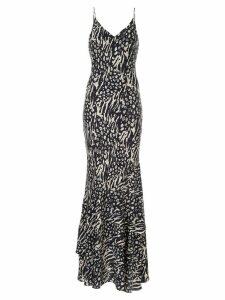 Rebecca Vallance Lola printed slip dress - Blue