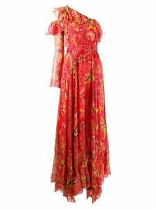 Etro floral print evening dress - Red