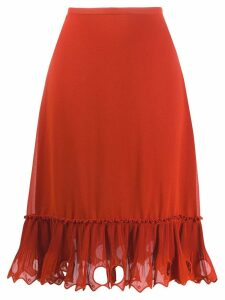 See By Chloé embellished hem skirt - Orange