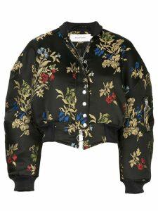 Marques'Almeida floral print bomber jacket - Black