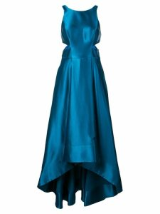 Aidan Mattox flared gown with cut-outs - Blue
