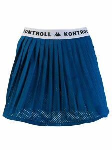 Kappa Kontroll pleated mesh skirt - Blue