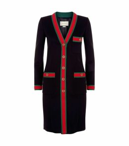 Web Trim Wool Coat