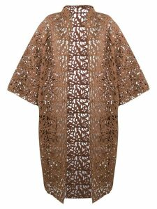 Gianluca Capannolo brocade lace coat - Brown