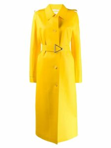Bottega Veneta long belted raincoat - Yellow
