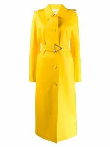Bottega Veneta long belted raincoat - Yellow